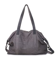 Women's leather overnight bag Grey weekender by TESLeatherDesign