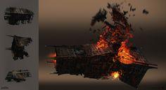 Destiny - Taken King Hive Spaceship, Frank Capezzuto III on ArtStation at https://www.artstation.com/artwork/yZe69