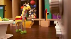 LEGO robots after hours - a WeDo giraffe goes exploring