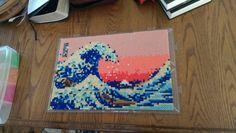 The Great Wave off Kanagawa (Katsushika Hokusai) - Perler bead art by beastwood929
