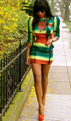 The stripy and short look...