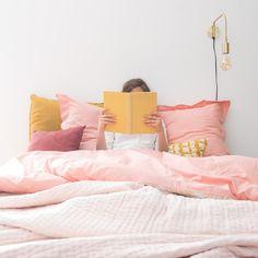 Parure en coton imprimé flamants roses 220x240cm PINK FLAM   Maisons du Monde