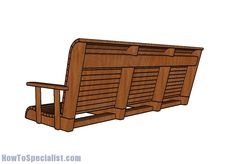 This step by step diy woodworking project is about free porch swing bench plans. This porch swing bench is really sturdy and it features a nice clean design, so you can match it with any style. Woodworking Plans Porch Swing, Woodworking Projects Diy, Woodworking Furniture, Wood Projects, Workbench Plans, Woodworking Workbench, Backyard Projects, Woodworking Basics, Woodworking Logo