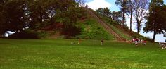 Miamisburg Mound, the larges conical mound in ohio, in 400 ad the people who created these disappeared and we don't know how