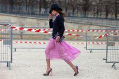Paris  Christopher Kane clutch, Louis Vuitton pumps