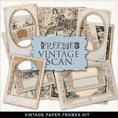 ❥ Vintage Papers Frames