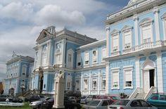 O prédio da Beneficente Portuguesa
