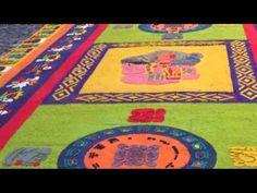 Tutorial para realizar alfombras de aserrín - YouTube