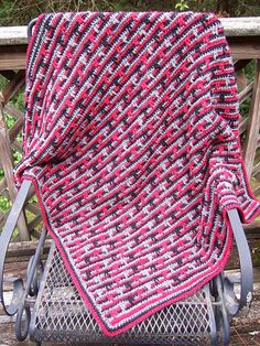 Ravelry: Dripping Lines Blanket pattern by Heather Tucker - free pattern