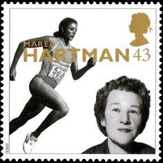 British Stamp - 20th Century Women of Achievements Marea Hartman, athlete