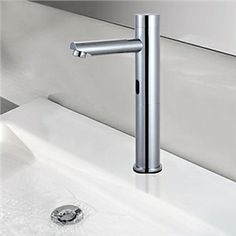 The Dyconn Faucet Trinidad polished chrome bathroom faucet, with a motion  sensor, helps accomplishing any task with hands-free operation.