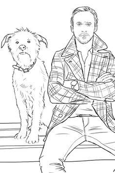 Ryan Gosling coloring book.