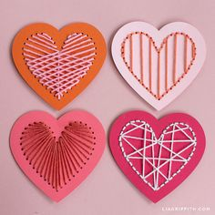 Today we're showing you how to create this heart lacing card Valentine craft kit for your favorite gal pals. Valentines Bricolage, Little Valentine, Valentine Day Crafts, Holiday Crafts, Valentine Decorations, Valentine's Day Crafts For Kids, Fun Crafts, Paper Crafts, Lacing Cards