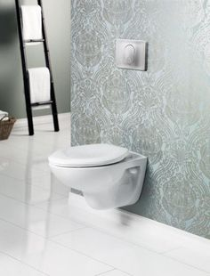 Cheviot's wall hung toilet HET (high efficiency toilet), marketed as ADA compliant.     - UD Principle #6: Low physical effort.   http://www.cheviotproducts.com/bathroom_toilets/wall_hung_toilet_het/