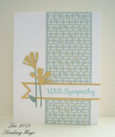 March CardKit With Sympathy by quilterlin, via Flickr  (SSS:  Fresh Daisies)