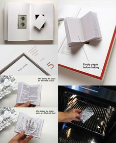 Well Done (annual report for a food company) by Bruketa & Zinić - The pages have to be baked in an oven at a certain temperature to reveal the text/images