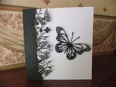Kensington border die and Lunette butterfly die