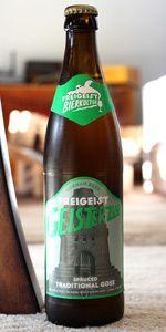 Freigeist Geisterzug Gose is a Gose style beer brewed by Braustelle in Köln, Germany.