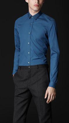 Burberry Prorsum Classic Fit Cotton Shirt. Love the color, classic