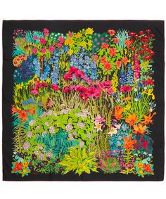 Black Astrid Gardens Print Silk Scarf, Liberty London. Shop the latest Liberty London Scarves collection at Liberty.co.uk