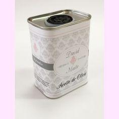 """Lata Miniatura de Aceite """"Vintage"""". 150 ml. Aceite de oliva virgen extra. PVP: 2,95 €. #regalo #invitados #boda"""