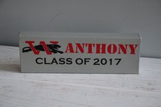 CUSTOM Graduation Sign Class of 2017 College High by EntropySigns