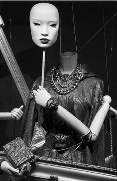 Lanvin's Masked Ball Window Display, Paris 2010. Photographer's credits unknown.