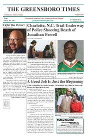 Greensboro Times August 2015 Edition