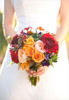 bright wedding bouquet by April Flowers http://aprilflowersslo.com/