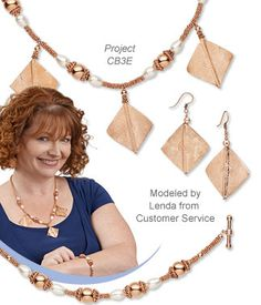 The Copper Craze: Swarovski Crystal Pearl and Copper Bead Jewelry Set with Hill Tribes Copper Focals