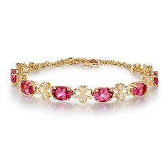 Bracelet Tourmaline et Diamant