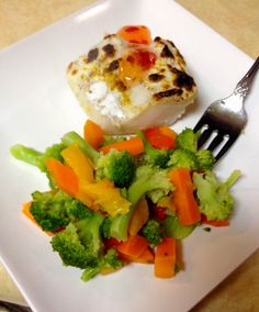 Baked yoghurt curry Cod.