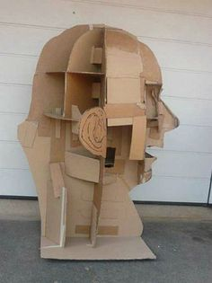 James Lake, cardboard sculpture
