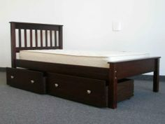 Bedz King Twin Bed with 2 Under Bed Drawers, Cappuccino by Bedz King, http://www.amazon.com/dp/B008KCRBLG/ref=cm_sw_r_pi_dp_abnJsb1CZBX39