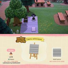 Animal Crossing Online, Animal Crossing Fan Art, Animal Crossing Guide, Animal Crossing Qr Codes Clothes, Motif Acnl, Towel Animals, Path Design, Design Ideas, Motifs Animal