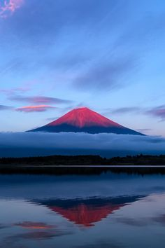 The Red Mount Fuji, Fujinomiya, Shizuoka, Japan