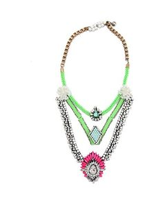 Pink & Green Crystal Necklace