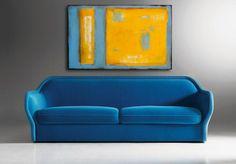 Original Painting 24 X 36 canvas blue and yellow by erinashleyart