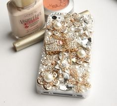 iphone 5 case iphone Bling pearl perfume case by graceiphonecases