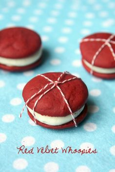 Red Velvet Whoppies - Yum-O