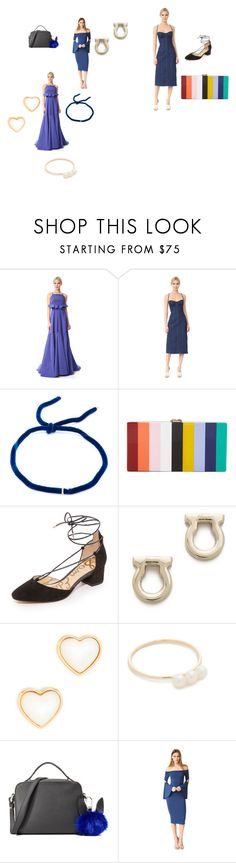"""""""Going to buy"""" by jamuna-kaalla ❤ liked on Polyvore featuring Lela Rose, Natasha Zinko, Elizabeth and James, Milly, Sam Edelman, Salvatore Ferragamo, Tory Burch, EF Collection, Kendall + Kylie and Clayton"""