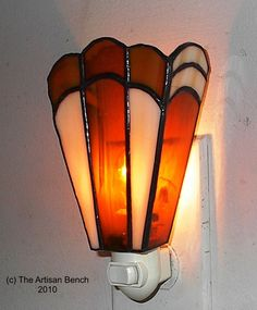 Image detail for -Art Deco Stained Glass Night Light by ArtisanBench on Etsy