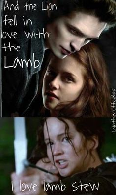 I hate when people compare twilight to THG.... they are not the same thing!!!!!!