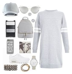 """""""Compton"""" by anishagarner ❤ liked on Polyvore featuring NIKE, New Look, Chicnova Fashion, MICHAEL Michael Kors, Kate Spade, Chico's, Casetify, Pier 1 Imports and shirtdress"""
