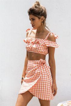 Cata Gingham Skirt #SaboSkirt
