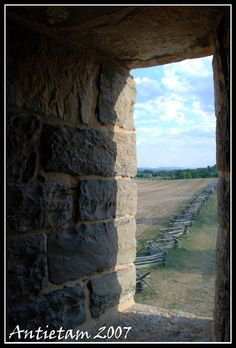 Antietam Battlefield, Maryland.  View of Bloody Lane from the tower.  Lived right near here.