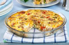 An upscale low-carb, gluten-free version of an easy tuna casserole. Whip together an easy crustless tuna quiche with just cheese, eggs and milk. Tuna Recipes, Quiche Recipes, Salmon Recipes, Seafood Recipes, Cooking Recipes, Recipies, Lasagna Recipes, Kitchen Recipes, Easy Healthy Dinners