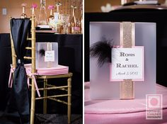 Pink and black glamour decor