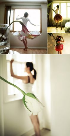 Amazing pictures: Flower skirts by Tatiana Mikhina. Creative!!