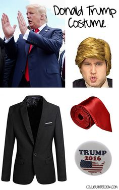 Dress Like Donald Trump | Donald trump costume, Donald trump and ...